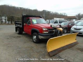 2006 Chevrolet Silverado 1500 K3500 HD 4WD Dually Dump Truck with Plou