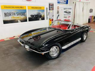 1967 Chevrolet Corvette - CONVERTIBLE - REAL BLACK/RED COLOR COMBO - TANK STICKER -