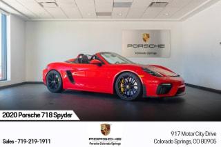 2020 Porsche 718 Boxster Spyder