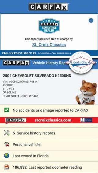 2004 Chevrolet Silverado 2500HD Base